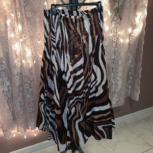 BNWOT grace animal print skirt